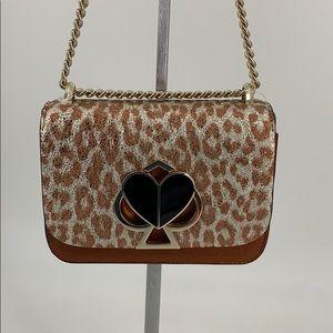 Kate Spade Nicola Metallic Leopard Twist Lock Bag